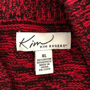 Kim Rogers Sweaters - Kim Rodgers Poncho Sweater Red Like New Plus Size
